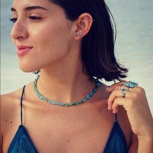 Anthropologie BOHO Turquoise Choker Necklace